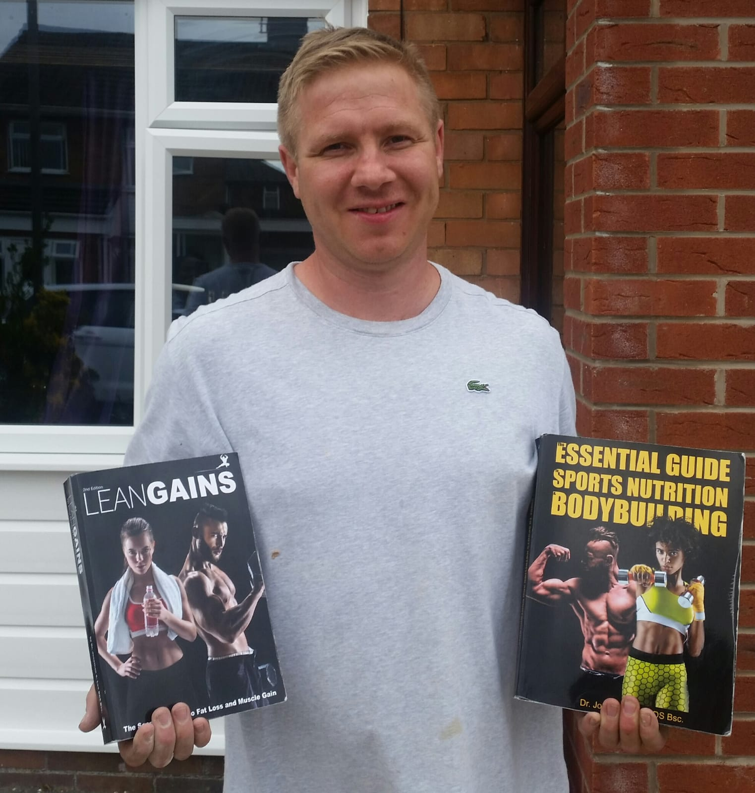 danny holding lean gains book