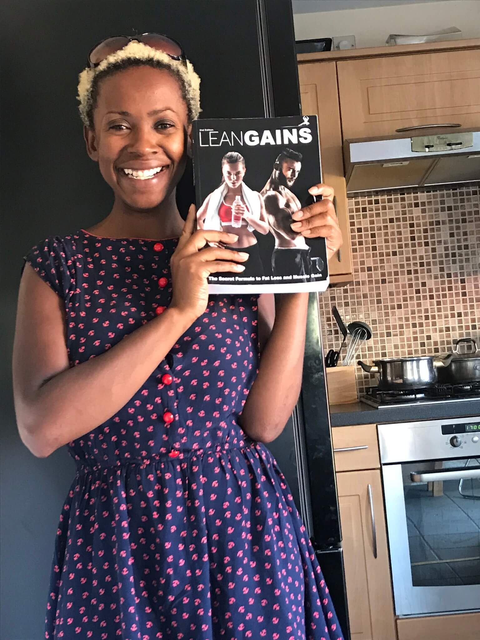 author jocelyyn holding lean gains book