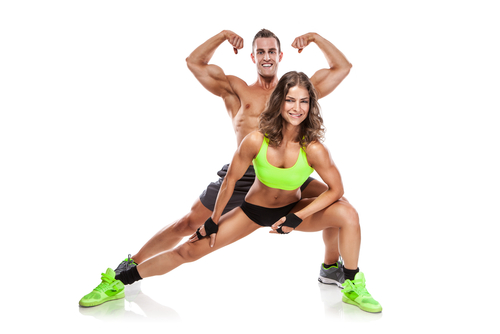 muscle growth in bodybuilding couple